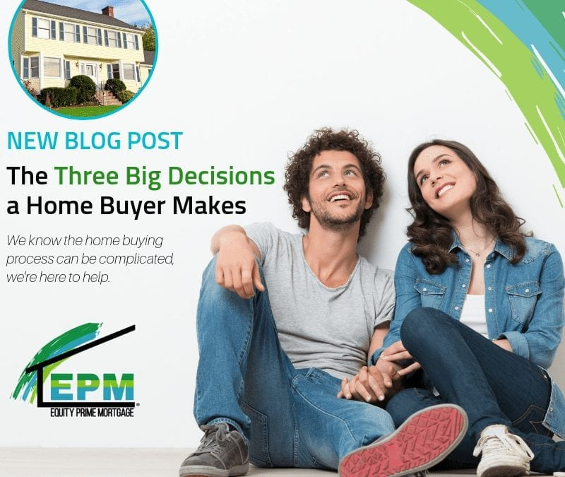 The Three Big Decisions a Home Buyer Makes