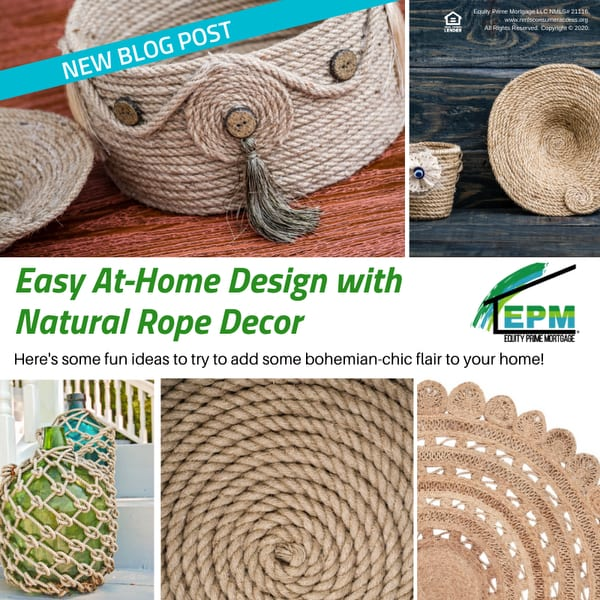 Easy At-Home Design with Natural Rope Decor